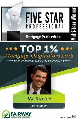 RJ Baxter Top 1% Loan Originators Nationwide
